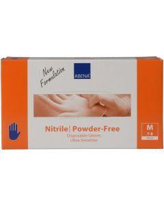 Abena Nitril-Handschoenen Sensitive poedervrij Maat M blauw 100st