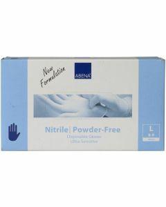 Abena Nitril-Handschoenen Sensitive poedervrij Maat L blauw 100st