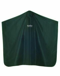 Kadus Professional Zwarte kapmantel met Kadus Professional logo en drukknoopsluiting. 100% polyester. zwart