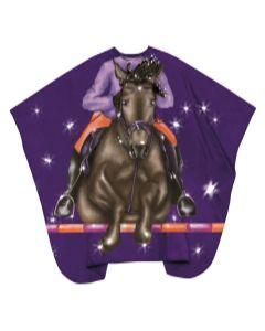 Trend-Design Kinder Kapmantel Jockey hooks 130x125cm