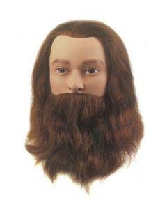 Sibel Oefenhoofd Leif-Classic met baard en snor bruin 20-25cm