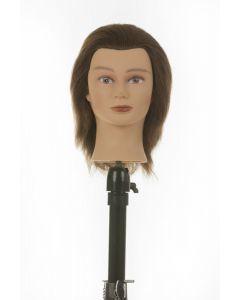 Heads Up Oefenhoofd Kim 100% human hair 15cm